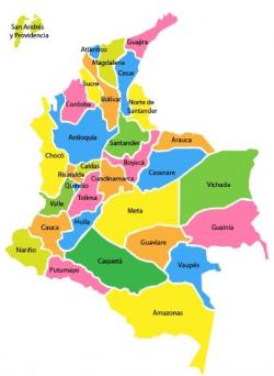 División Politica de Colombia