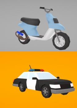 Dos medios de transportes