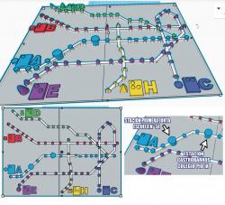 Mapas hápticos subte de BA