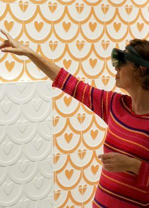 agatha-ruiz-de-la-prada-Pamesa-ceramica-Realidad-virtual-Aumentaty-Solutions